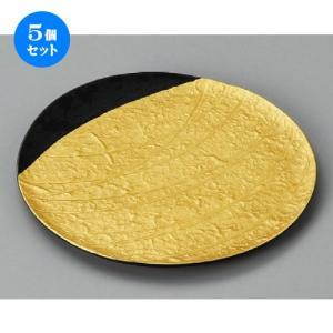 5個セット ☆ 丸皿 ☆ 雲母金和紙彫6.0うちわ皿 [ 175 x 10mm ] 【料亭 旅館 和食器 飲食店 業務用 】|setomono-honpo