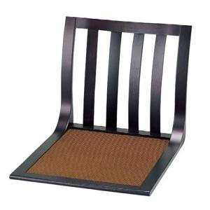 座椅子 木製座椅子 布張ライトブラウン(駒入り) [W47 x D53(座面) x H42.5cm] 木製品 (7-780-11) 料亭 旅館 和食器 飲食店 業務用|setomono-honpo
