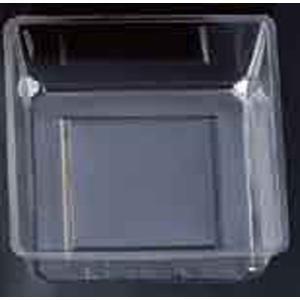盛器 5.5寸重用(78角)中子(100入)透明 [7.8 x 7.8 x 3cm] PS (7-626-3) 料亭 旅館 和食器 飲食店 業務用|setomono-honpo
