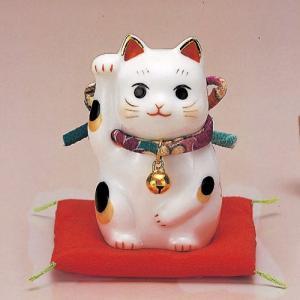 招き猫 彩絵ふく福招き猫(右手・紫)|setomono-honpo