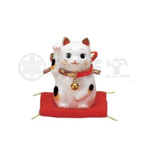 招き猫 彩絵ふく福招き猫 (右手) [高さ 6.5cm]|setomono-honpo