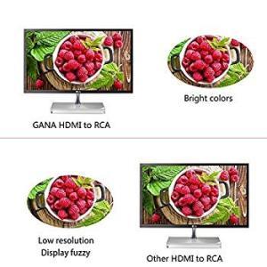 HDMIをコンポジットへ変換、GANA HDMI to AV変換アダプタ 1080P対応 HDMI入力をコンポジット出力へ変換コンバーター|settaroponpon