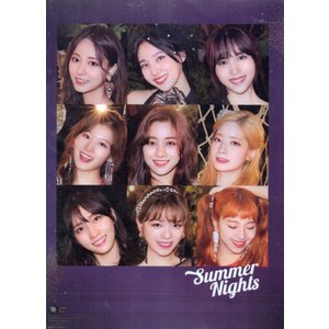 TWICE トゥワイス グッズ クリアファイル  A4サイズ ONE IN A MILLION Summer Nights