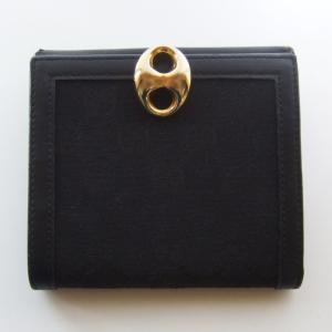 GUCCI グッチ◆折財布◆ブラック 黒◆ゴールド金具◆小銭入れ付◆GGキャンバス×牛革◆大人 上品 しっかり収納【送料無料】|seven777