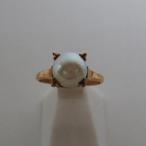 K18 本真珠 パール◆8mm珠◆リング 指輪◆11号◆シンプル 定番◆オシャレ 普段使い パーティー【送料無料】|seven777