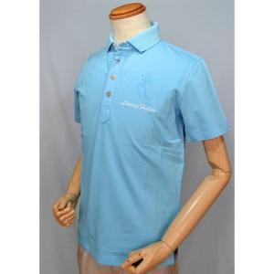 ラウラフェリーチェ Laura felice 春夏 ポロシャツ メンズ ブルー 日本製 SALE 50%OFFセール|sevenebisu-net