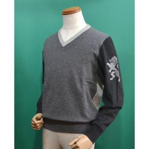 ラウラフェリーチェ セーター 46サイズ Vネック グレー メンズ服 秋冬 セール35%OFF 125-7001|sevenebisu-net