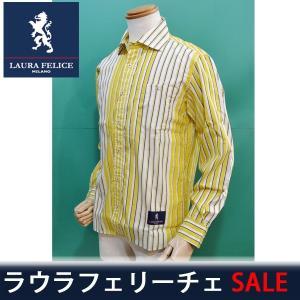 ラウラフェリーチェ メンズ シャツ セール35%OFF 春夏 イエロー 130-3111 日本製|sevenebisu-net