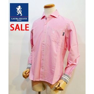 35%OFFセール ラウラフェリーチェ メンズシャツ ピンク 無地 メンズ服 日本製|sevenebisu-net