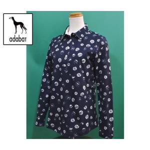 (セール30%OFF) アダバット adabat レディース 長袖 ポロシャツ 紺ネイビー ゴルフウェア AL13023|sevenebisu-net