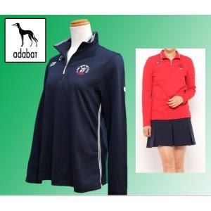 (セール20%OFF) アダバット adabat レディース 長袖 ポロシャツ ZIPエリ ゴルフウェア 日本製 AL13922|sevenebisu-net