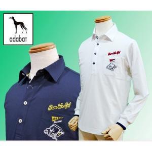 (セール20%OFF) アダバット adabat メンズ ゴルフウェア 長袖 ポロシャツ 日本製 AM13023|sevenebisu-net