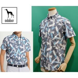 アダバット メンズ 半袖 ポロシャツ 2018春夏新作 ゴルフウェア 新作 日本製 AM14330|sevenebisu-net