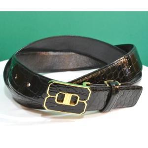 紳士 メンズ ベルト 本革 クロコダイル ワニ革 日本製 belt-cro01 (お取り寄せ商品)|sevenebisu-net