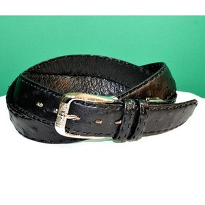 紳士 メンズ ベルト 本革 オーストリッチ ダチョウ革 日本製 110cmロング belt-ost01 (お取り寄せ商品)|sevenebisu-net