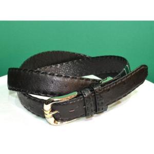 紳士 メンズ ベルト 本革 オーストリッチ ダチョウ革 日本製 110cmロング belt-ost04(お取り寄せ商品)|sevenebisu-net