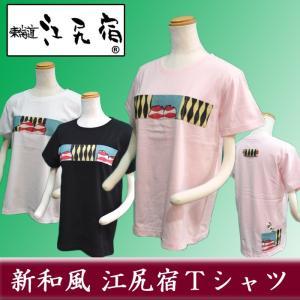 オリジナルTシャツ 東海道 江尻宿Tシャツ レディース 銘仙2 和風 和柄 前後3ポケット II型|sevenebisu-net