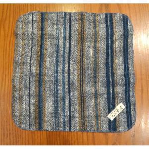 いやしのハンカチ 日本棉(岐阜県産)  手つむぎ 手織り 手染め 藍染め|sevenebisu-net