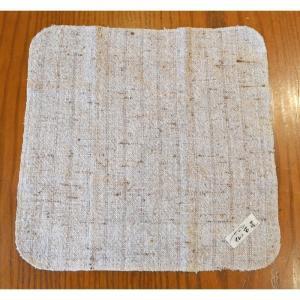 いやしのハンカチ 日本棉(岐阜県産)  手つむぎ 手織り ゼンマイ織|sevenebisu-net