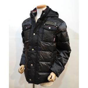 50%OFFセール カプリ CAPRI メンズ  ダウン ジャケット コート 黒ブラック ブルゾン ito3002-20|sevenebisu-net