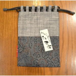 江尻宿巾着05 きんちゃく袋 和風 大島紬使用 こだわりの逸品オリジナル商品|sevenebisu-net