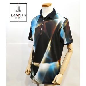 プリズム調の柄がオシャレなランバンの新作ポロシャツ。 肉厚のボタンがキラリと光ってアクセント。 (ボ...