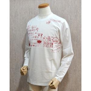 サンタフェ Santafe 服 メンズ セール35%OFF Tシャツ 48サイズ 長袖 白 日本製 2016春夏 93417-065|sevenebisu-net