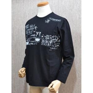 サンタフェ Santafe 服 メンズ セール35%OFF Tシャツ 長袖 48サイズ 黒 日本製 2016春夏 93108-019|sevenebisu-net