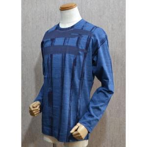 サンタフェ Santafe 服 メンズ セール35%OFF Tシャツ 長袖 50サイズ 紺 日本製 2016春夏 93423-099|sevenebisu-net