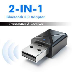 Bluetooth 5.0 TV 音 USB トランシーバー レシーバー アダプタ ミニステレオカー...