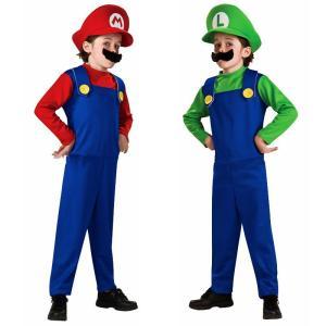 ◇人気のハロウィン衣装マリオとルイージが登場!!  ◇帽子とヒゲまでセットになっているので、これだけ...