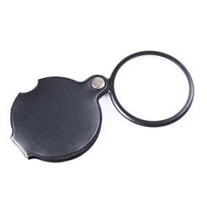 ポケットルーペ 直径5cm 倍率5倍 携帯に便利 拡大鏡