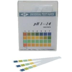 スティックタイプのpH試験紙です。 試験紙を試験液に漬けると、試験紙の色が変わります。 変わった色を...