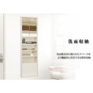 洗面収納 壁厚収納 洗面用 KU-491WG ノダ|sevenjyuusetu