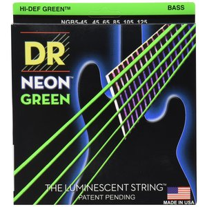 DR-NGB545/Medium 5 String/NEON GREEN/エレキベース弦|sevenle7