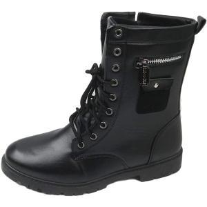 カジュアル ワーク エンジニア ライダース レーザーブレード メンズ ブーツ ブラック 45(ブラック 45, 25.0 cm)|sevenleaf