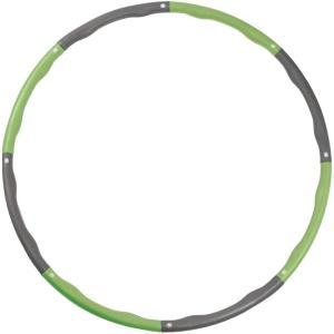 フラフープ シェイプアップ 大人用 子供用 組み立て式 収納袋付き ダイエット 人気 MDM(グリーン) sevenleaf
