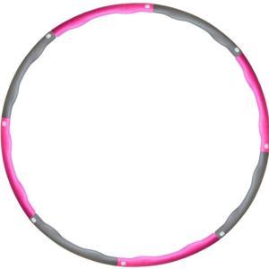 フラフープ シェイプアップ 大人用 子供用 組み立て式 収納袋付き ダイエット 人気 ピンク MDM(ピンク) sevenleaf