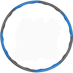 フラフープ 大人用 子供用 組み立て式 収納袋付き ダイエット 人気 MDM(青) sevenleaf