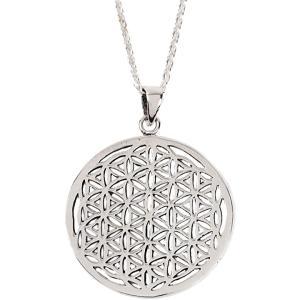 フラワーオブライフ 生命の花 ネックレス レディース シルバー 925 アクセサリー 神聖幾何学(シルバー) sevenleaf