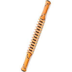 マッサージローラー 筋膜リリース フォームローラー スティック ストレッチ(オレンジ)|sevenleaf