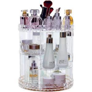 化粧品収納ラックバックアクリルボックス化粧品収納カラーボックス収納ボックス透明大容量回転収納ラック MDM sevenleaf