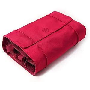 化粧品バッグ多機能取り外し可能な化粧品バッグ赤い化粧品バッグポータブル出張は化粧品バッグを掛けることができます MDM sevenleaf