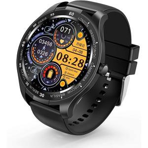 2020最新版 スマートウォッチ smart watch 1.3インチ大画面 全画面タッチスクリーン 活動量計 心拍計(ブラック)|sevenleaf