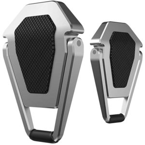 EC-SHIELD ノートパソコン スタンド macbook PCスタンド アルミ合金製 耐久性 貼り付け型 折り畳み式 冷却 MDM(銀色)|sevenleaf