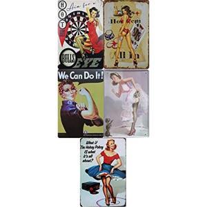 「どう飾る?」アメリカンヴィンテージ風看板5枚セット、おすすめです。最近、街中やショッピングモールに...
