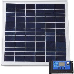 スプレンノ ソーラーパネル 20W ソーラーチャージャー コントローラー セット 10A 12V 24V|sevenleaf