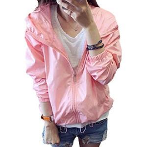 軽量 防水 ナイロン ブルゾン ジャンバー 羽織 もの プルオーバー レディース(ピンク) sevenleaf