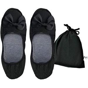 携帯スリッパ 折りたたみ 室内履き 柔らかい シューズ タイプ レディース コンパクト に 収納 ポーチ付き(ブラック)|sevenleaf