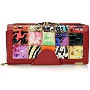 ・個性派 パッチワーク 個性が光るパッチワーク柄の長財布です。  使いやすさを追求したこだわりの財布...